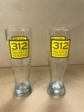"""Goose Island"" Chicago 312 Urban Wheat Ale glasses, Set of 2, Beer Glass"