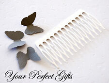 "10 pcs 3"" Silver Metal Hair Comb Wedding Bridal Tiara Craft for hair brooch"