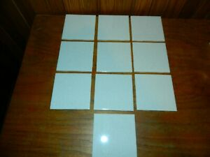 "Lot of 25 NOS Vintage Ceramic Wall Tiles 4 1/4"" White Gold Speckle"