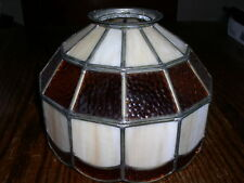 "Leaded Pearl / Gold Paneled 10"" Hanging Ceiling Lamp Shade"