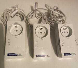 3 x CPL Netgear Powerline AV500 XAV5601