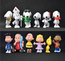 PEANUTS SNOOPY ACTION FIGURE KIDS COLLECTION PLAY SET TOPPER DECOR FIGURINES TOY