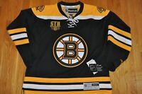 BOSTON BRUINS NHL SEASON TICKET REEBOK JERSEY BLANK BACK LARGE NEW NWT