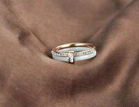 Damen Ring Frauen Dame Kristall Keramik Ring Rose Gold Silber Freundschaftsring