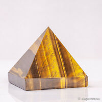 217g 58mm Natural Tiger Eye Quartz Crystal Pyramid Healing Gemstone Chakra Decor