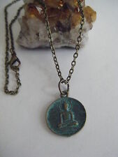 """Spiritual Healing Buddha Necklace Awakened One Good Fortune Luck Wellness 18"""""""