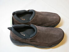 Crocs Swiftwater Leather Moc Espresso 203568 standard fit M 11 mens NEW shoes