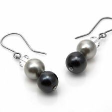 Unbranded Pearl Shell Silver Plated Costume Earrings