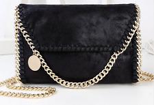 Stella McCartney Falabella Style Black Gold Chain Shoulder Crossbody HandBag New