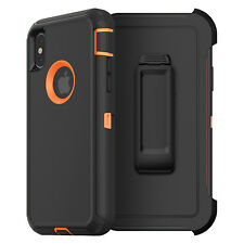 For iPhone X 8 7 Plus 6S Plus 6 Case Cover {Belt Clip fits Otterbox Defender}
