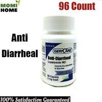 GeriCare Anti Diarrheal Strength Caplet 96 Bottle 2 mg Control Symptoms Diarrhea