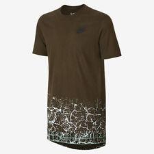 NIKE 778164 329  Men's T-Shirt  QT S+ Commuter Cotton T-Shirt Tee Green XL