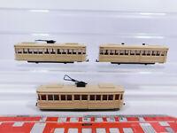 CP252-0,5# 3x Wiking H0/1:87 Straßenbahn: 749 Beiwagen + 750 Motorwagen, s.g.