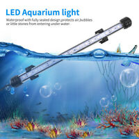 RGB LED Aquarium Fish Tank Light Submersible Bar Strip Lamp US Plug