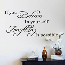 Believe in yourself motivation Quote Wall Stickers Art Room Removable Decals DIY
