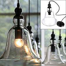 Hot Vintage Country Style Glass Pendant Light Lamp Chandelier Big Bell