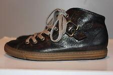 PAUL GREEN Traum Schwarz Echtleder High-Top Sneakers, Gr. 37/UK4, Top Zustand!