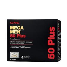 GNC Mega Men 50 Plus Vitapak Program 30 Packets