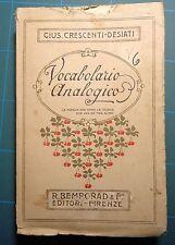 Crescenti-Desiati Vocabolario Analogico Bemporad Firenze 1920
