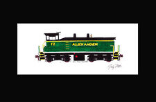 "Alexander Railroad SW1500 11""x17"" Matted Print Andy Fletcher signed"