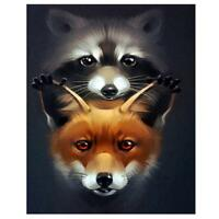 DIY 5D Raccoon Fox Diamond Painting Embroidery Cross Stitch Kit Handicraft Decor