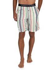 Tommy Hilfiger Men's Woven Stripe Pyjama Shorts, White