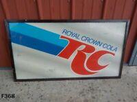 Vintage 1970's RC COLA Royal Crown Soda Sign
