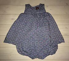 Tea Collection Boutique Ultramarine Diya Romper Dress 3 6 Months Baby Girls