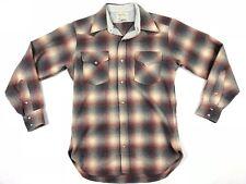 Vintage Pendleton Western High Grade 100% Virgin Wool Shirt Men's Size Medium