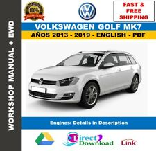 Workshop Manual Volkswagen Golf MK7 2013-2019. Includes Wiring Diagrams