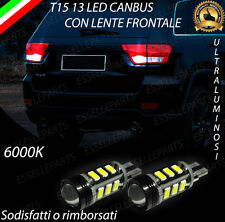 LAMPADE RETROMARCIA 13 LED T15 W16W CANBUS JEEP GRAND CHEROKEE III NO ERROR