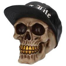 Thug Life Skull 12cm High Nemesis Now Gothic Hip Hop Gold Tooth