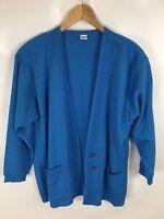 BODE Strickjacke, Vintage, Modell: Marbella, blau, Größe 06