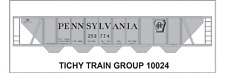 Tichy Train Group #10024 HO Scale PRR H32 Covered Hopper Shadow Logo Decals