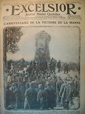 WW1 N° 1763 ANNIVERSAIRE BATAILLE DE LA MARNE ENTONNOIR DE MINE EXCELSIOR 1915