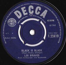 Los Bravos ORIG UK 45 Black is black VG+ '66 Decca F22419 Baroque Pop Rock