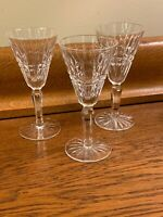 "Set Of 3 Waterford Crystal Glenmore Claret Wine Cordial Glasses 5 1/2"" PERFECT!!"