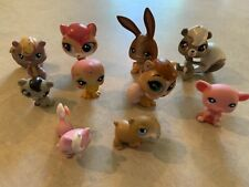 LPS lot Of 10 Random Pets Some With TLC see Photos
