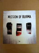 MISSION OF BURNA 2004 Retail PROMO POSTER for On off On CD USA 18x18 onoffon