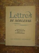 LETTRES DE NOBLESSE CURNONSKY Texte Lithographies de d'Edy Legrand 1935 EO