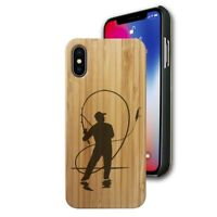 Bamboo Case Compatible with iPhone X, Xs, XR, Xs Max - Fly Fisherman