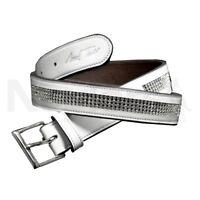 Mark Todd Diamante Patent Leather Belt Large-XLarge White