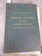 Weckler & Masselon Echelle métrique Monoyer ophtalmologie optique médecine