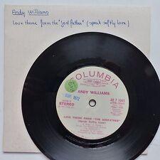 ANDY WILLIAMS Medley + BO Film Godfather Speak softly love PROMO AE 7 1045 RTL