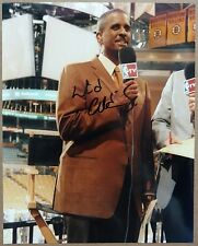 "David Aldridge signed autographed 8x10"" photo (Nm-Mt auto) - sports reporter"