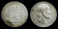 Netherlands - 2½ Gulden 1874 (klaver) Zeer Fraai