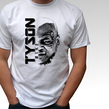 Mike Tyson white t shirt boxing top - mens and kids sizes
