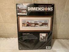 Dimensions Scenic Farm Counted Cross Stitch Kit 3841 Vintage 1997 Mildred Kratz