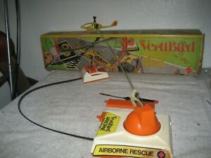 Vintage 1976 Mattel Vertibird Airborne Rescue mission helicopter parts w/Box