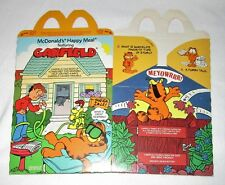 1989 McDonald's GARFIELD Happy Meal Box v2 unused FREE SHIPPING in the US!